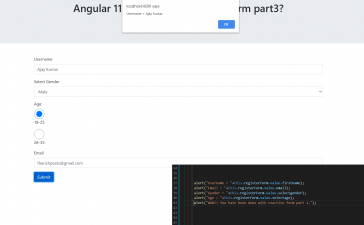 Angular 11 - How use to reactive form part 3? Getting Data