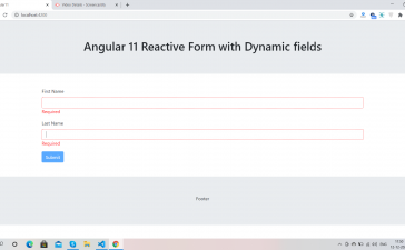 Angular 11 Reactive Form with Dynamic Fields