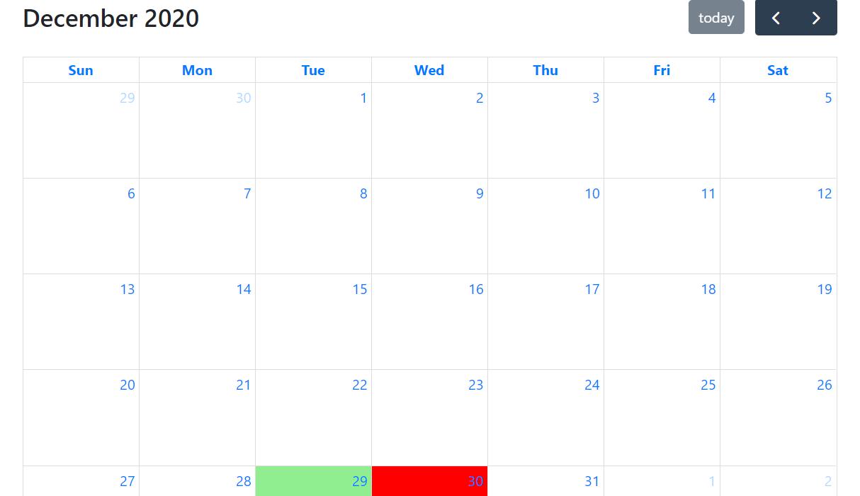 Laravel 8 Vuejs FullCalendar with Dynamic Events