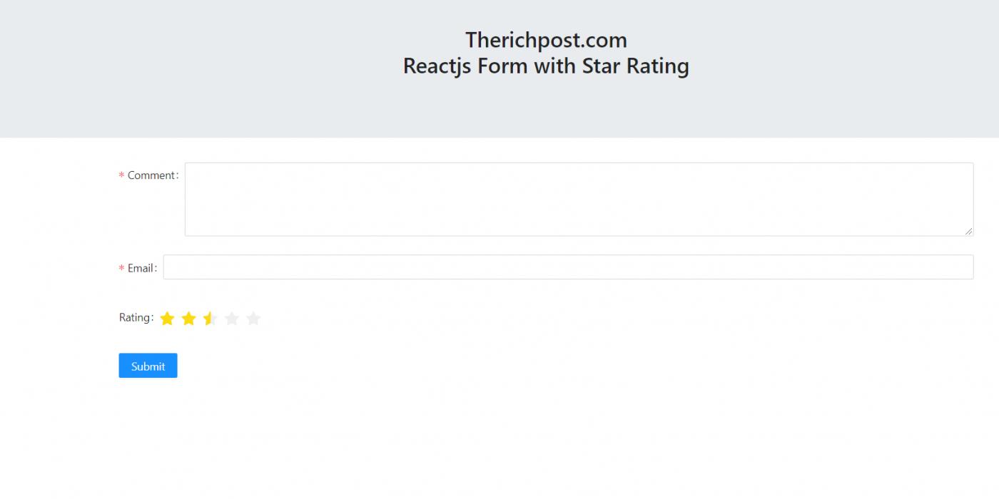 Reactjs Star Rating Working Demo Part 1