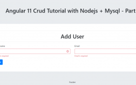 Angular 11 Crud Tutorial with Nodejs + MySQL - Part 1