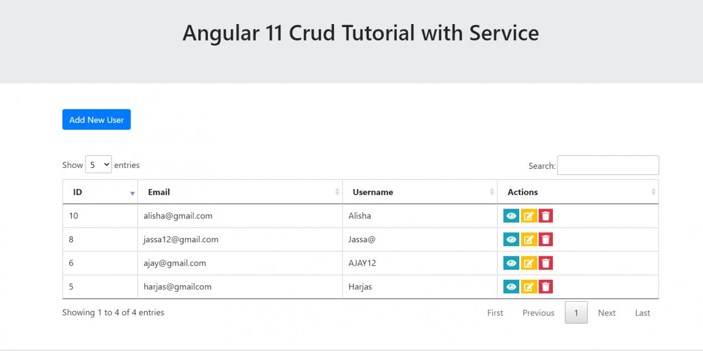 Angular 11 Crud Tutorial with Service