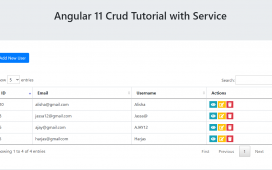 Angular 11 Crud Tutorial with Service