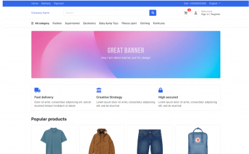 Angular 11 Ecommerce Templates Free