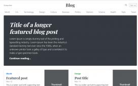 How to make blog with angular 11?