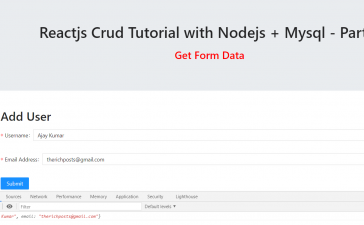Reactjs Crud Tutorial with Nodejs + Mysql – Part 2
