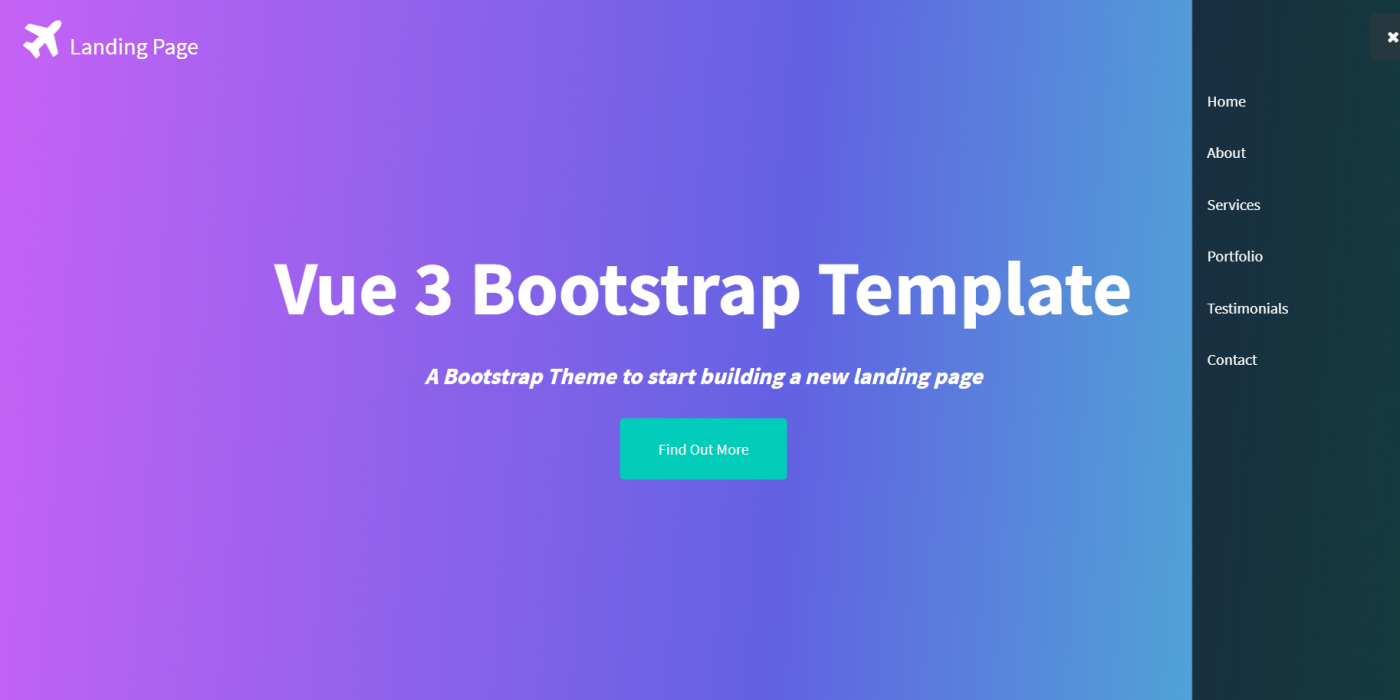 Vue 3 Bootstrap Landing Page Template Free