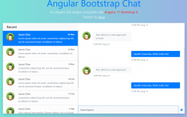 Angular 11 Bootstrap 4 Chat Widget