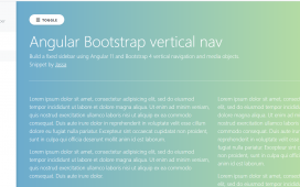 Build a fixed sidebar template using Angular 11 and Bootstrap 4 Vertical Navigation