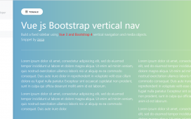 Build a fixed sidebar using Vue Js and Bootstrap 4 vertical navigation