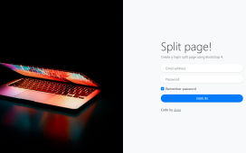 React Js Bootstrap 4 Login Split Page Template Free