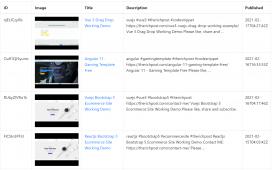 Reactjs Application with YouTube Video API JSON Data