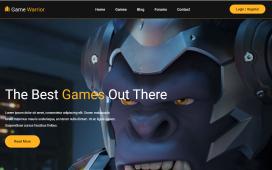 Reactjs Gaming Template Free