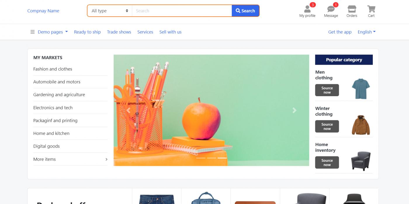 Reactjs - Multipurpose E-Commerce Template Free