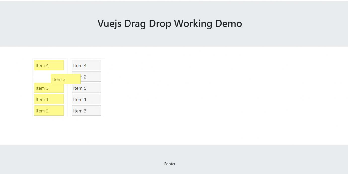 Vue3 - Vuejs Drag Drop Working Example