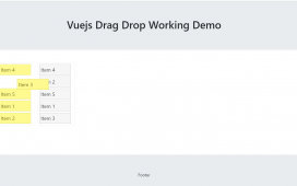 Vue3 - Vuejs Drag Drop Working Example