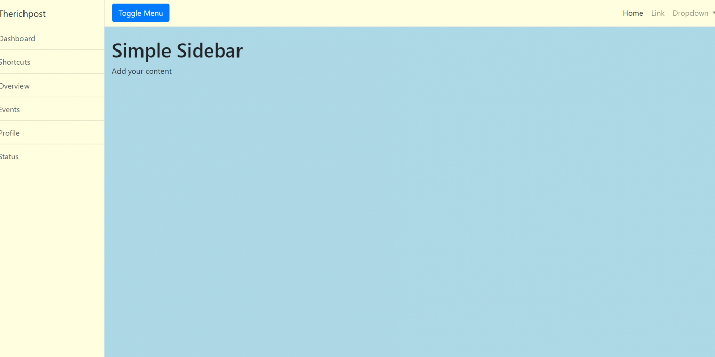 Vuejs 3 Responsive Sidebar Template Free