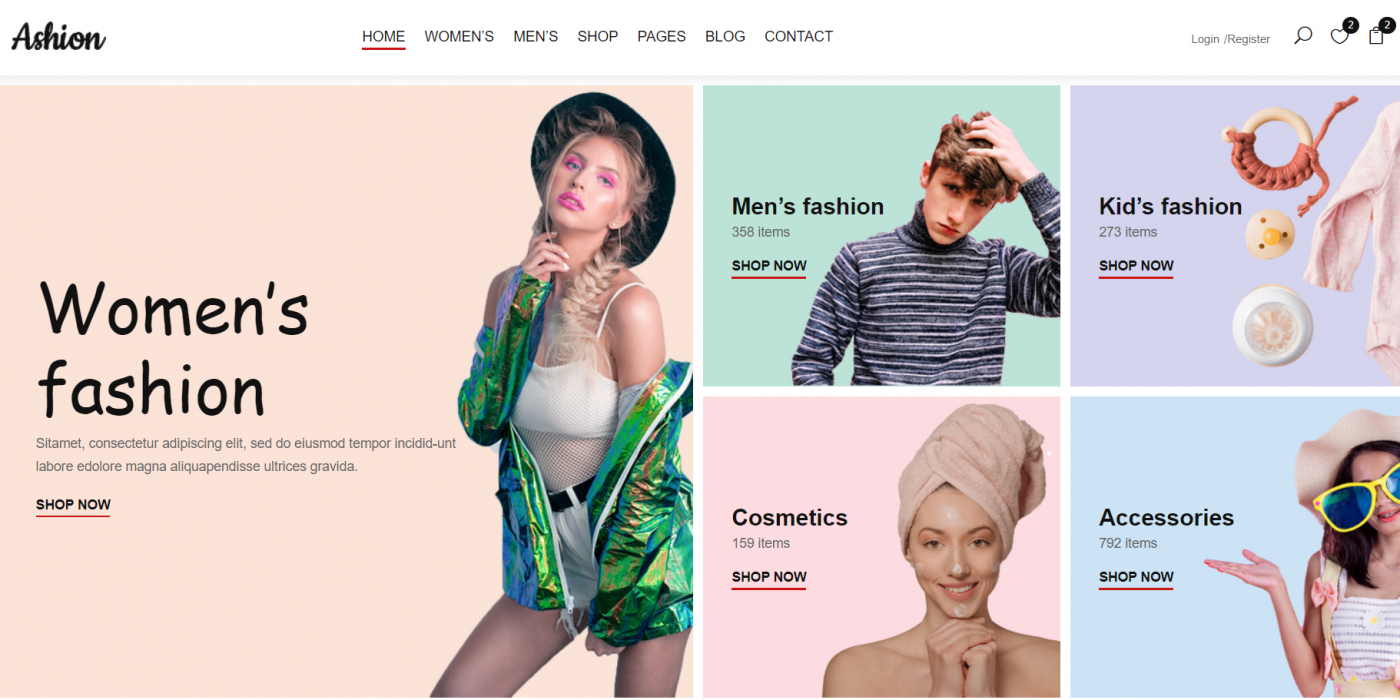 Vuejs Fashion Ecommerce Template Free
