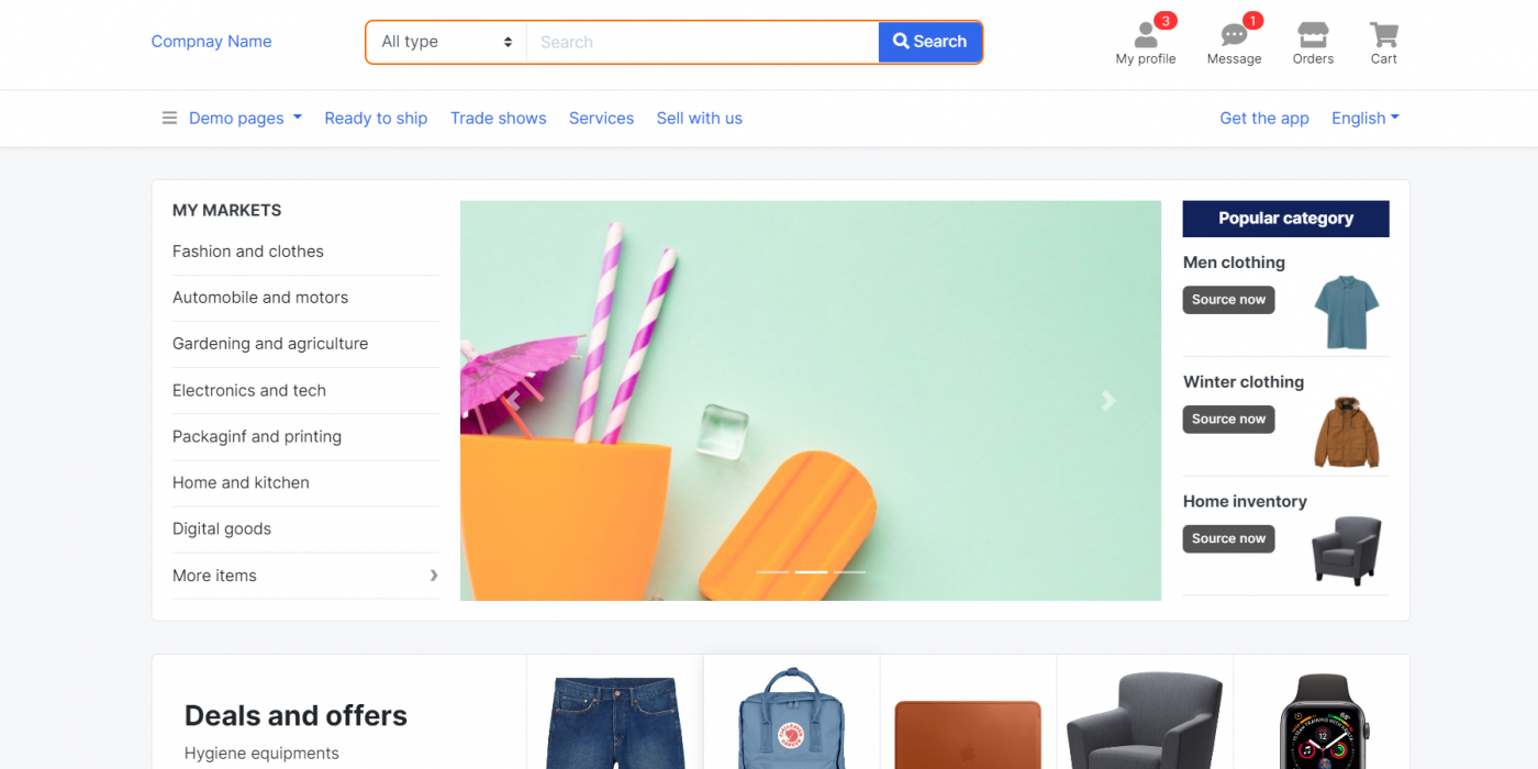 Vuejs - Multipurpose E-Commerce Template Free