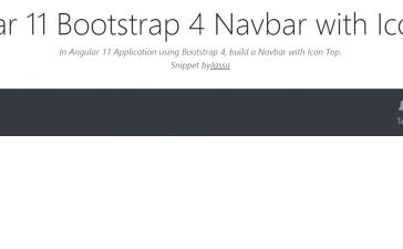 Angular 11 Bootstrap 4 Navbar with Icon Top