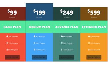 Angular Responsive Pricing Template Free