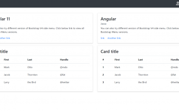 Angular 11 Admin Dashboard Template Simpe and Free