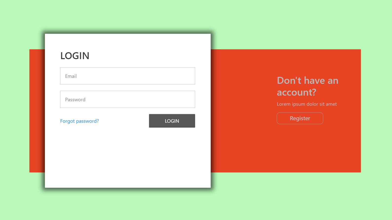 Angular 11 Animated Login & Registration Forms