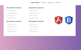 Angular 11 Bootstrap 4 Mega Menus Working Demo