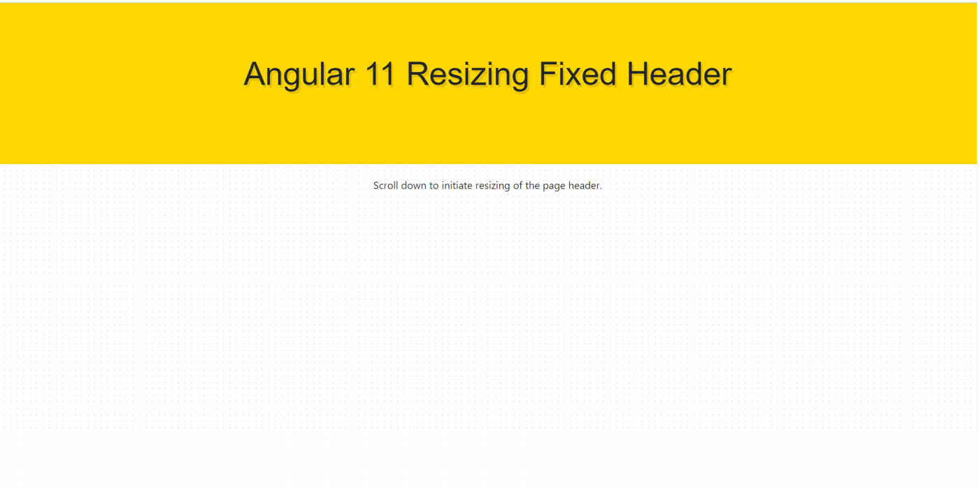 Angular 11 Resizing Fixed Header After Scrolling
