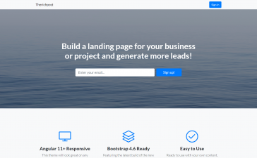 Build Professional Website in Angular 11.2 Bootstrap 4.6