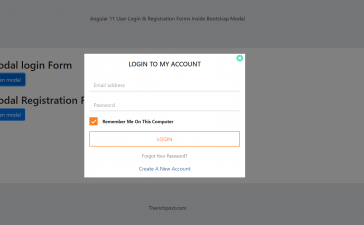 Laravel 8 Login & Registration Forms inside Bootstrap Modal