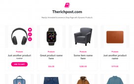 Reactjs Animated Ecommerce Shop Page with Dynamic Products