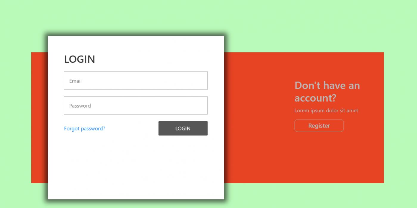 Reactjs Animated Login & Registration Forms