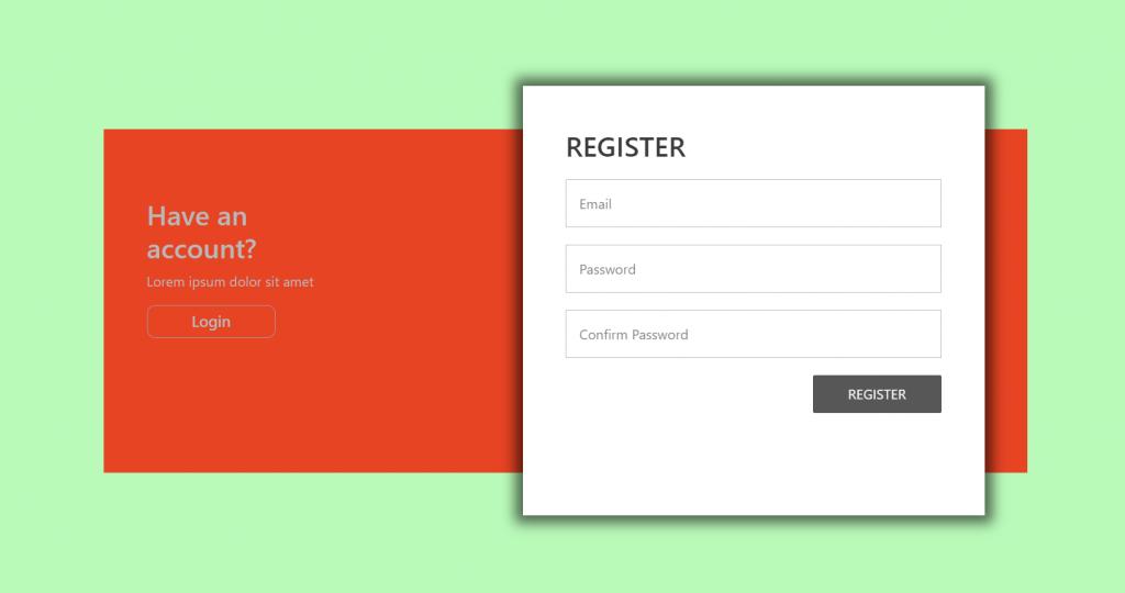 React Register Form