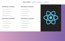 Reactjs Bootstrap 4 Mega Menus Working Demo