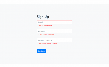 Reactjs Form Validation Working Demo