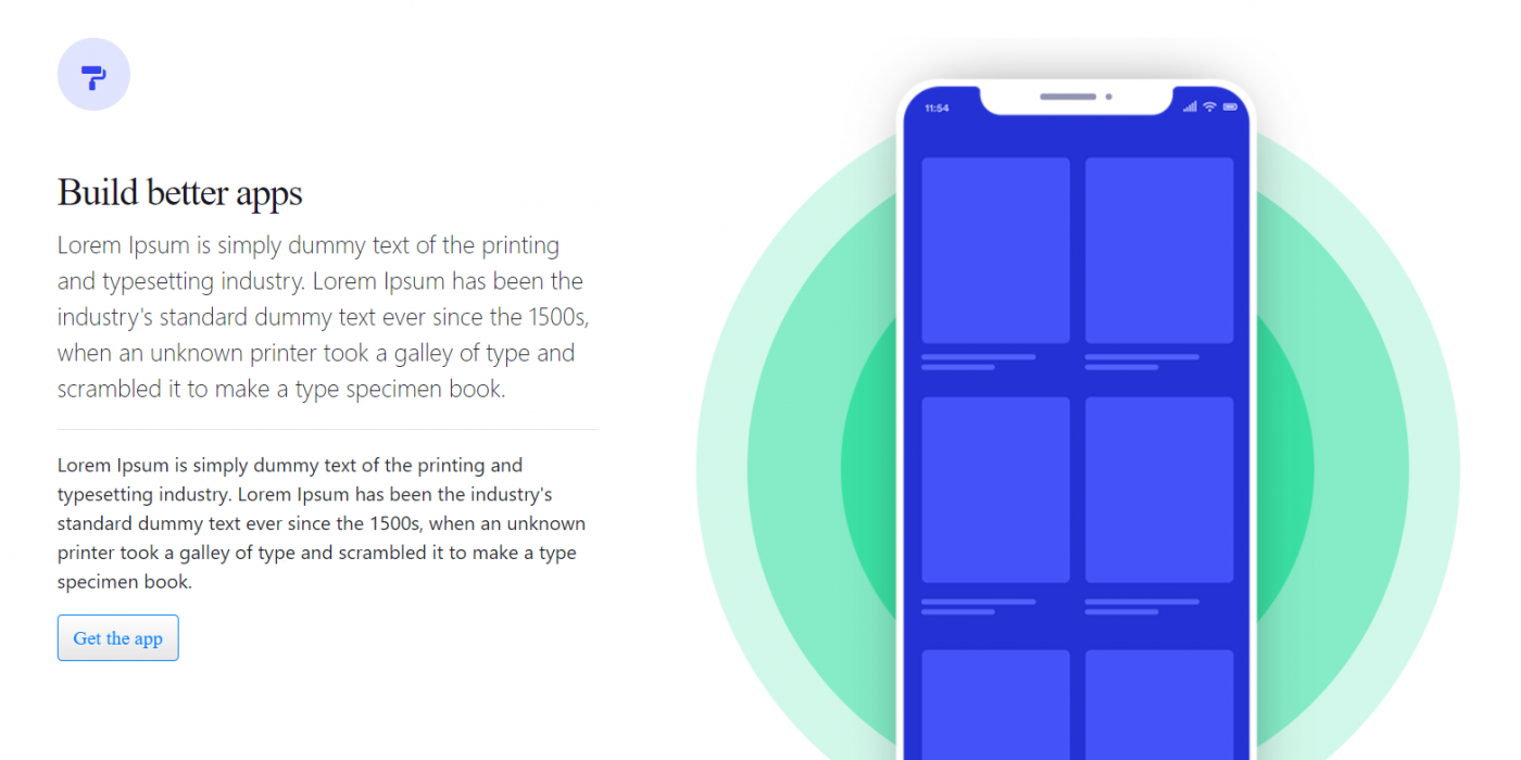 Vue 3 Animated App Landing Page Template