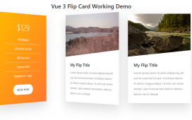 Vuejs - Vue 3 Flip Card Working Demo