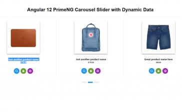 Angular 12 PrimeNG Carousel Slider with Dynamic Data