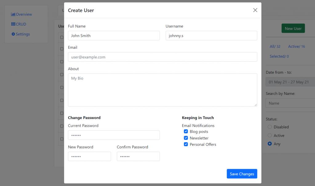 Angular 11 Bootstrap 5 Modal Popup