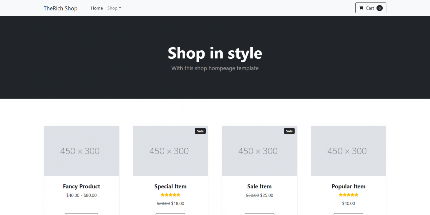 Angular 12 Bootstrap 5 Ecommerce Testing Project - Part 1