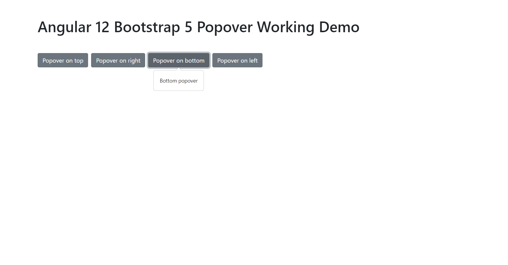 Angular 12 Bootstrap 5 Popover Working Demo