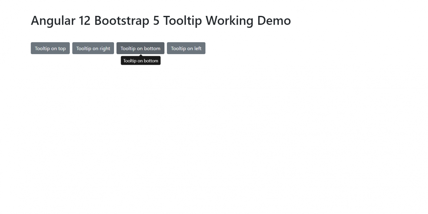Angular 12 Bootstrap 5 Tooltip Working Example