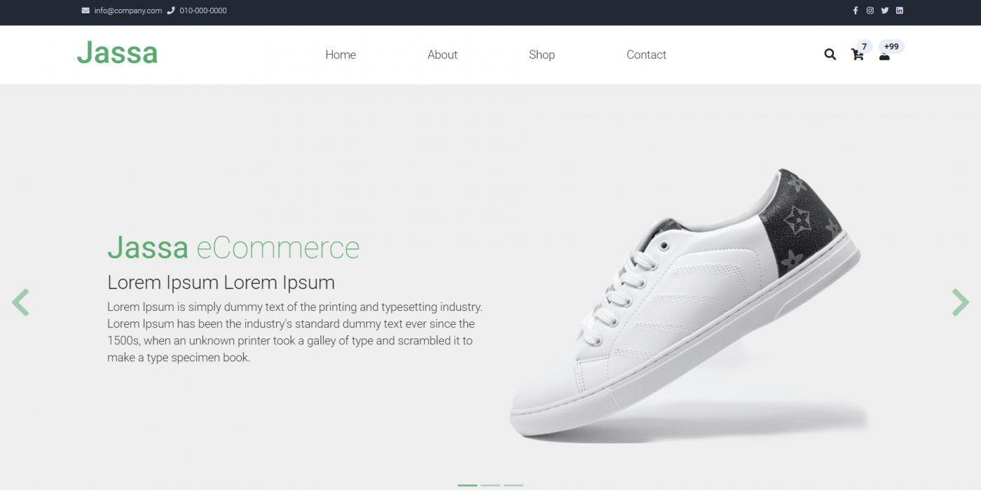Angular 12 Ecommerce Template Free - Jassa Shop