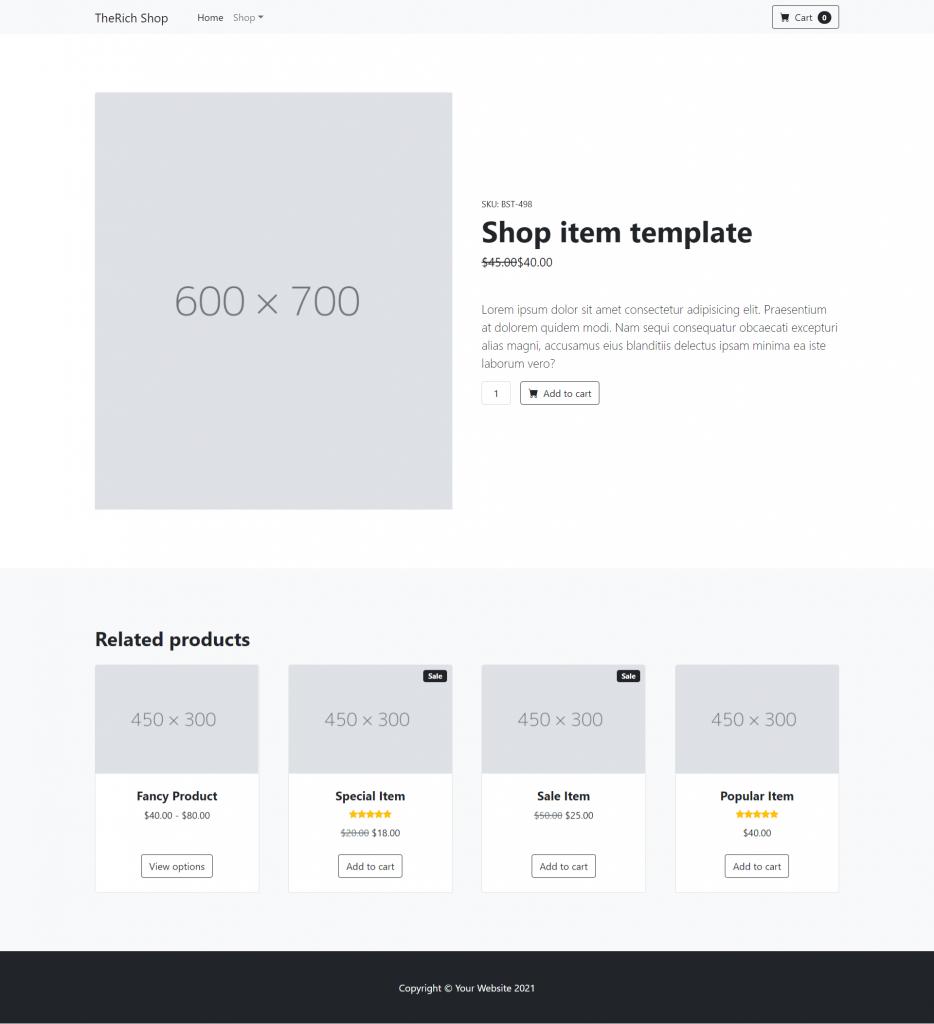 Angular Bootstrap Product Single Page