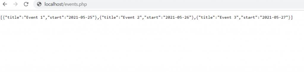 FullCalendar Dynamic Events Web API