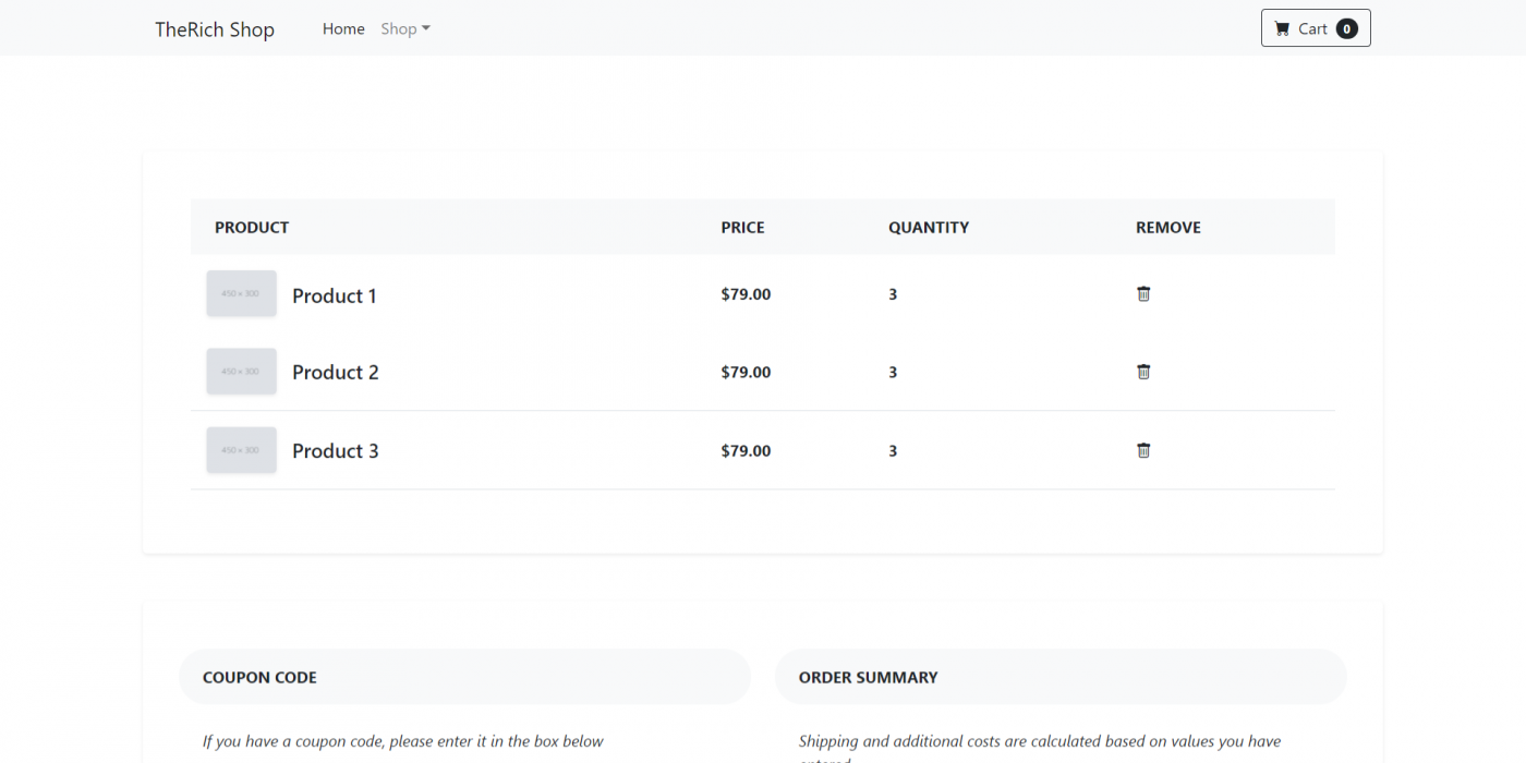 Reactjs Bootstrap 5 Ecommerce Testing Project - Part 2 Cart Page