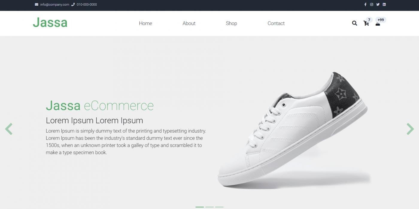 Reactjs Ecommerce Template Free - Jassa Shop
