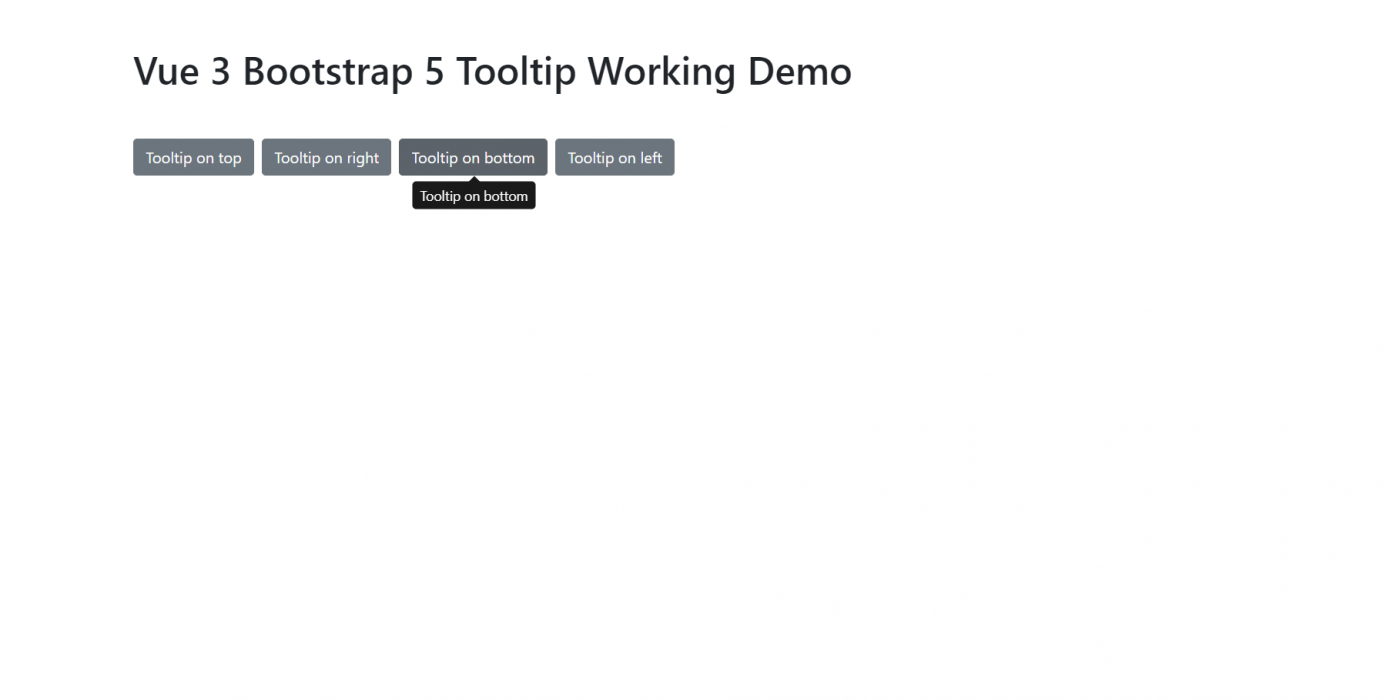 Vue 3 Bootstrap 5 Tooltip Working Example