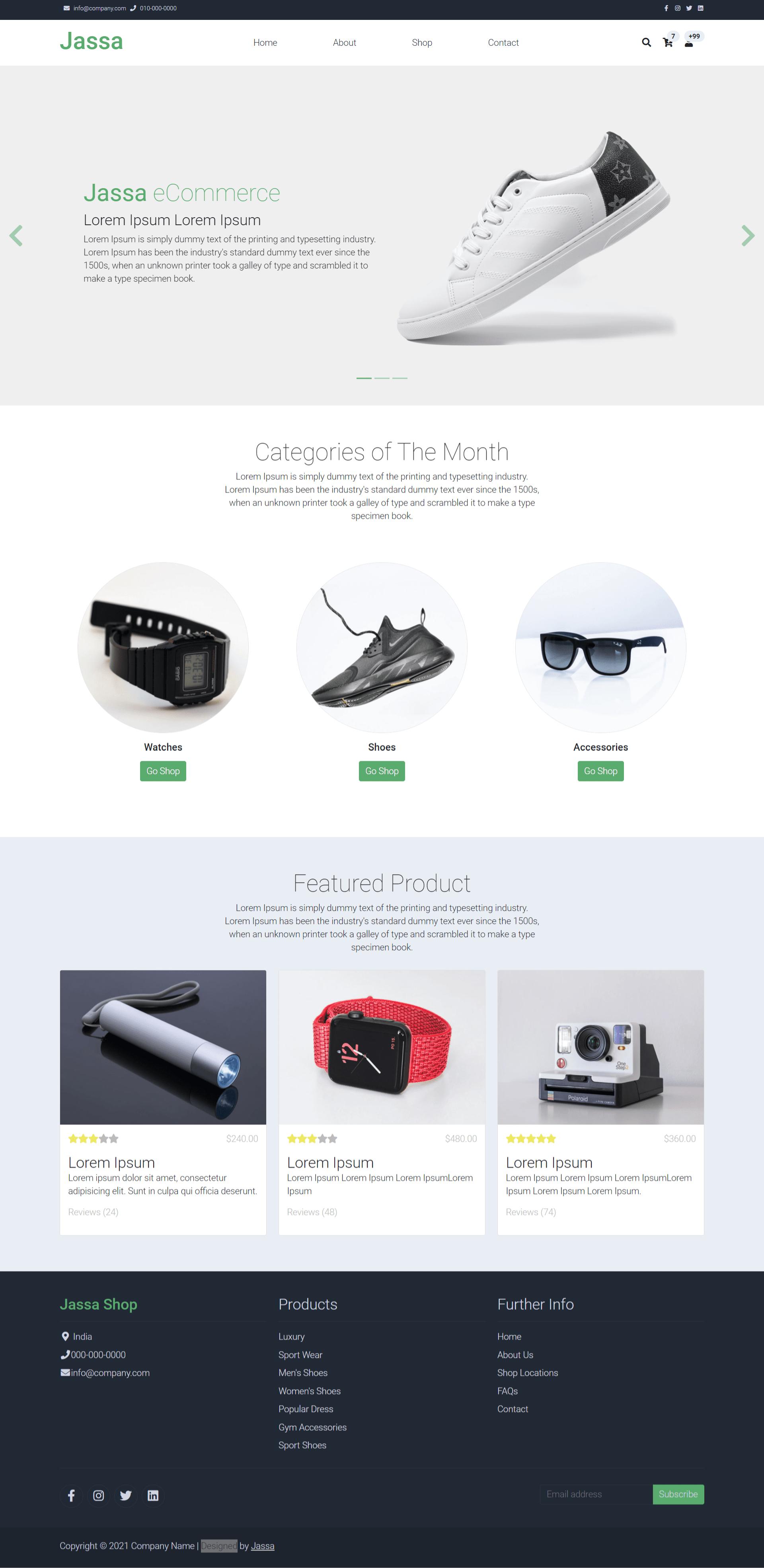 Vue 3 Ecommerce Template Free - Jassa Shop